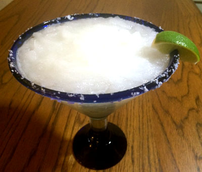 Margarita with salt trim glass